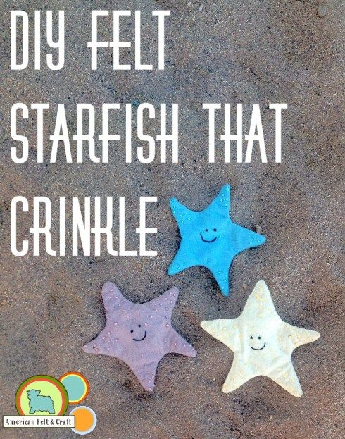 How to make a Felt Starfish Crinkle Toy | Starfish ...
