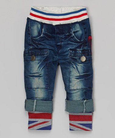 Another great find on #zulily! Blue Denim Union Jack Jeans - Infant, Toddler & Boys #zulilyfinds