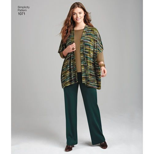Simplicity Pattern 1071 Misses' and Plus Size Knit Sportswear