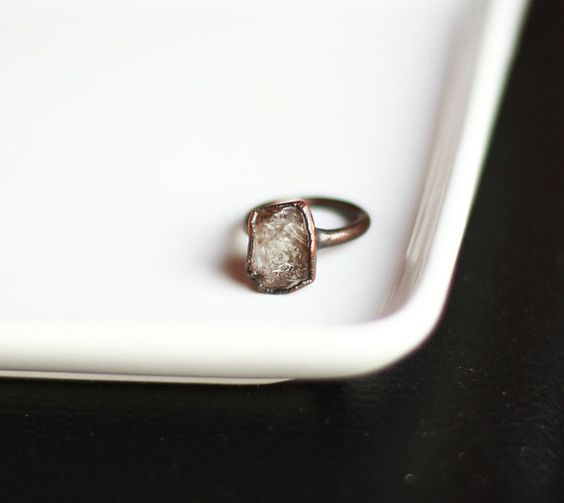 Herkimer Diamond Ring by Amanda Leilani Designs, $55.00