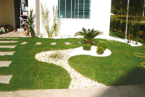 jardim simples  e bonito