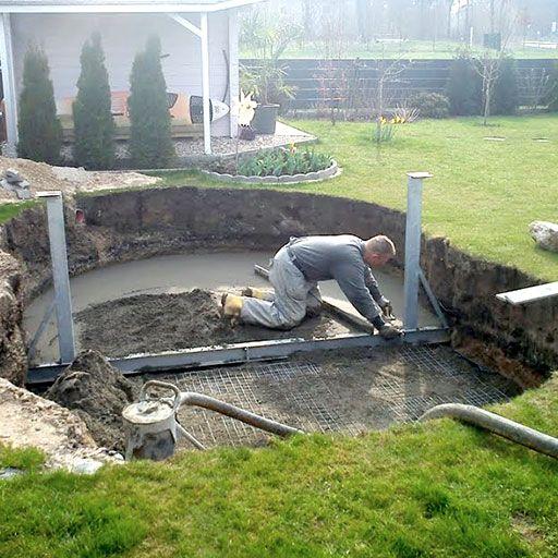 Aufbau Von Stahlwand Pools In 9 Schritten In 2020 Garten Pool Selber Bauen Pool Selber Bauen Terrasse Planen