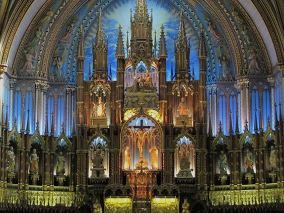 Notre-Dame Basilica - located across Montreal's second oldest square Place d'Armes.