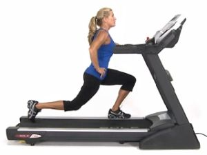 Try Skateboard Lunges - just one of the awesome Treadmill Exercises used in #BCxTreadz