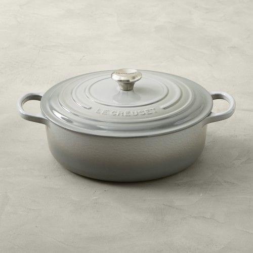 Le Creuset Signature Enameled Cast Iron Round Wide Dutch Oven 6 3 4 Qt Le Creuset Cookware Creuset Enameled Cast Iron Cookware