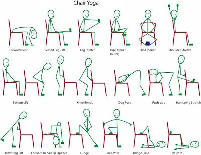 Chair yoga can be great for the disabled, but it's also wonderful for anyone who is not feeling quite up to a more challenging yoga routine that day.