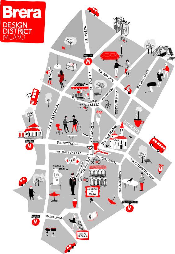 Milan Map - Brera Design District 2013 foto Silvia Gherra