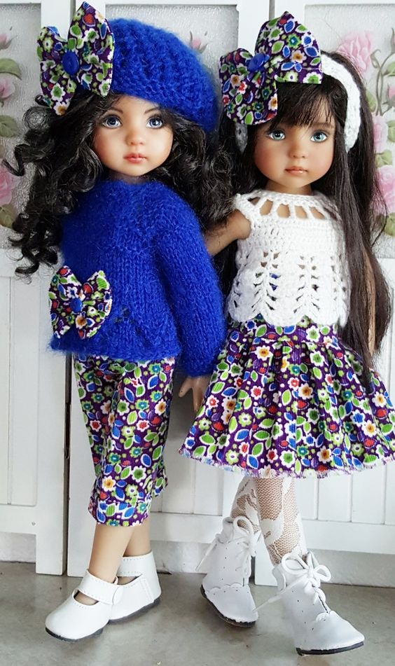 """MOHAIR SWEATER,CORDUROY&BOOTS SET MADE FOR EFFNER LITTLE DARLING 13"""" DOLLS…:"""