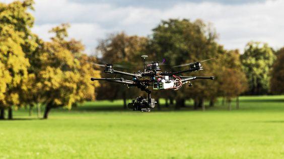 Unsere Drohne im Flug