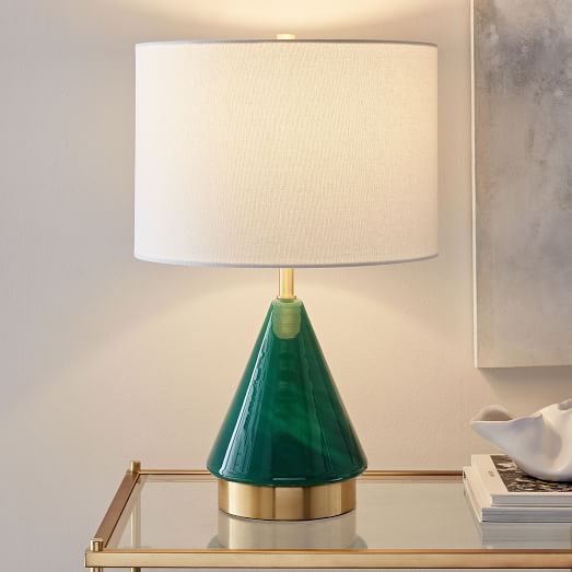 Matching Lamps For Small Spaces Lamp For Small Table Metalized Glass Table Lamp Usb Small Green Glftnww Glass Table Lamp Lamps Living Room Modern Lamp