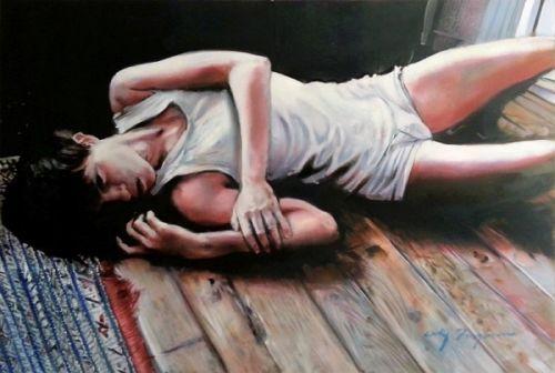 De castigo-Óleo Sobre Tela Original por furguson Cody in Arte, De negociantes e revendedores, Pinturas | eBay
