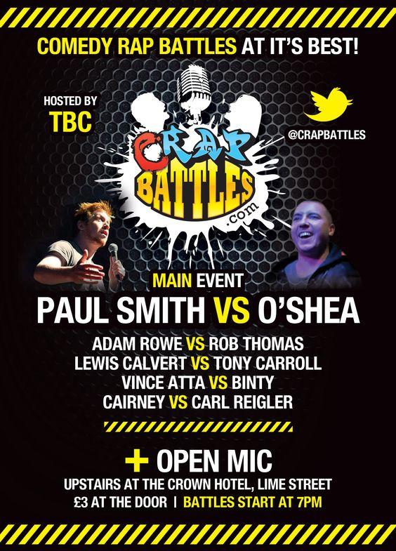 A5 flyer design for a comedy style rap battle event Print Design - hip hop flyer template