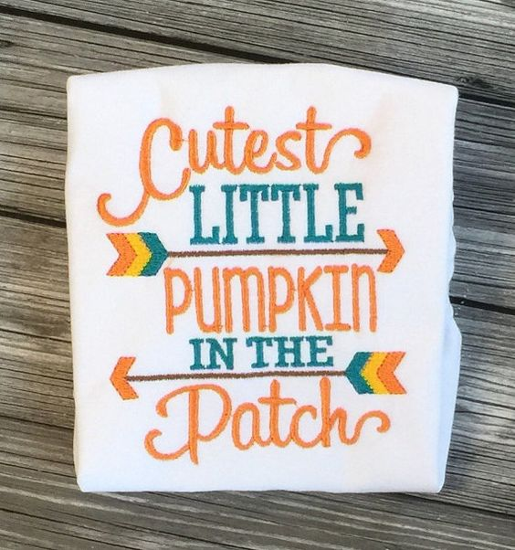 Cutest Little Pumpkin In the Patch by LilStytchesBoutique on Etsy