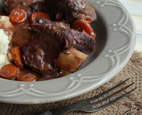 Red Wine Braised Short Ribs from Bon Appetite  (make sure to skim off fat, nothing more unappealing because short ribs have a lot of connective tissue and fat when cooked but the taste can't be beat)