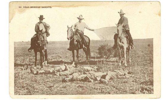 Postcard: 'Dead Mexican Bandits'