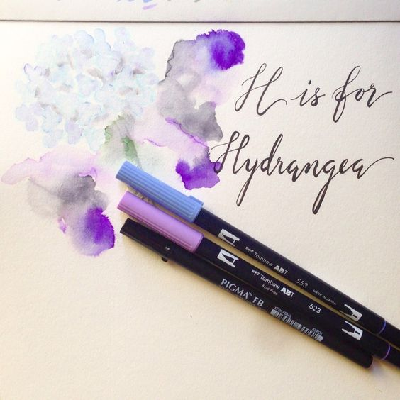 Easy Watercolor Technique Using Tombow Dual Brush Pens