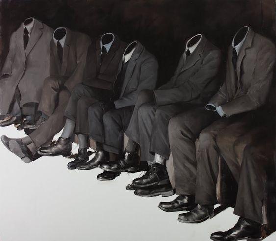 nicolaihecht:  Mircea Suciu - Wise Guys 2011 oil on canvas 130 x 150 cm