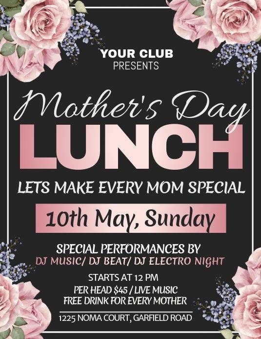 Mother S Day Mother S Day Brunch Mothers Day Brunch Mothers Day Poster Mothers Day