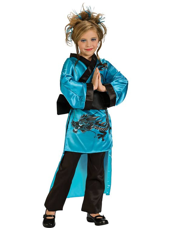 the teal dragon girl child is a costume that is best suited for any costume party - Best Site For Halloween Costumes