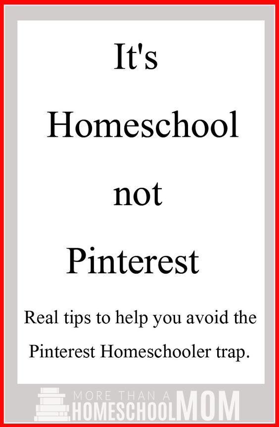 It's homeschool not Pinterest. Stop letting Pinterest make you feel small with these great tips and ideas to see a post for what it is.