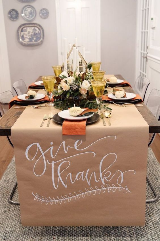 Beautiful & Simple Thanksgiving Table by House of Harper. #thanksgiving #holidaytable #holiday #tablescape
