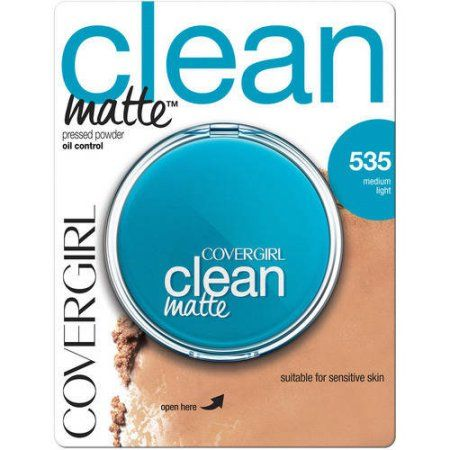 Covergirl Clean Oil Control Compact Pressed Powder, Medium Light 535, .35 oz