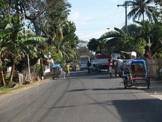 Medellin, Cebu, Philippines, street scene.
