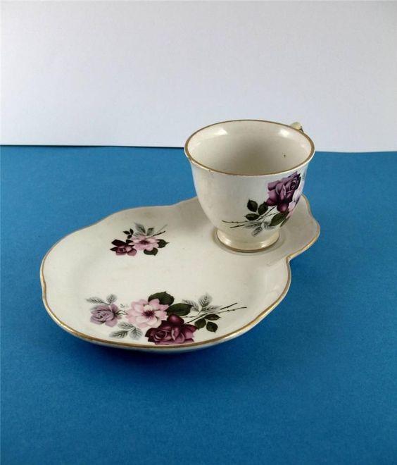 Old Foley James Kent Tennis Set - Cup & Sandwich Plate - Red & Pink Roses | eBay