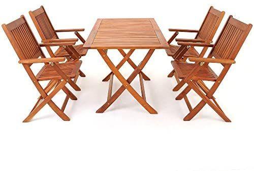Amazon De Deuba Sitzgruppe Sydney 4 1 Fsc Zertifiziertes Akazienholz 5 Tlg Tisch Klappbar Sitzgarnitur Holz Garten Mobel Sitzgruppe Sitzgarnitur Gartenmobel