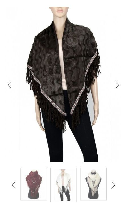Women Faxu Leather & Fur Triangle Winter Shawl & Scarf P205 One size*US SELLER* #GMGlobal #ShawlScarf