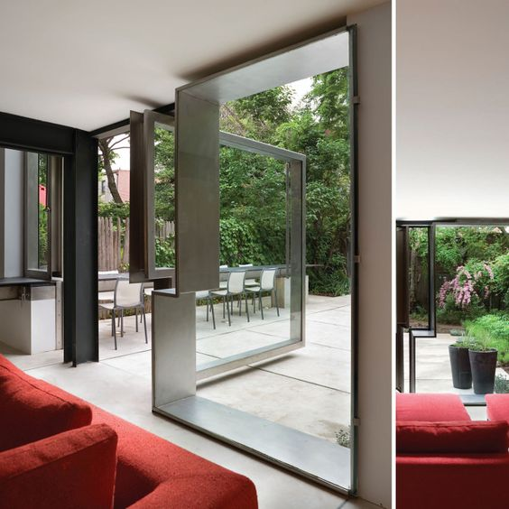 Operable Boundary Townhouse/Garden - Dean/Wolf Architects
