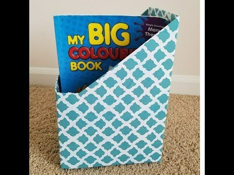 Diy Cereal Box Organizer File And Magazine Holder Best Out Of Waste Idea Craft Adley Blog Cereal Box Organizer Magazine Holders File Organization