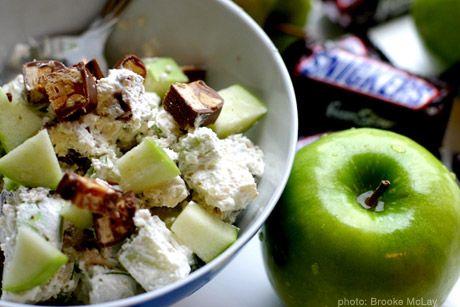 19 Healthy Kids Salad Recipes - Snickers Salad. Berry's Children Dental - pediatric dentist in Mitchellville & Bowie, MD @ www.berrychildrendental.com