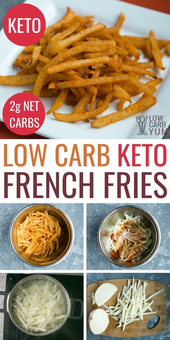 Keto French Fries - Seasoned Jicama Fries