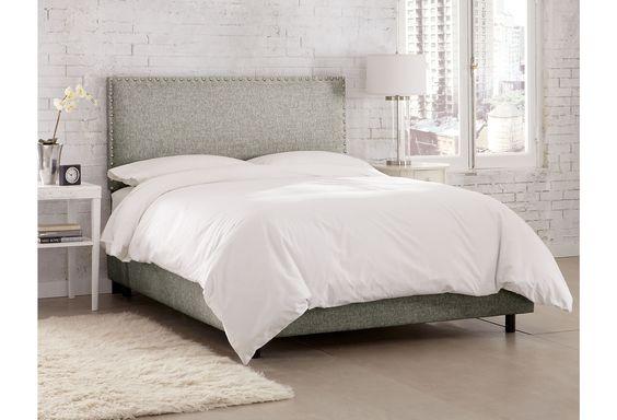 One Kings Lane - Mix It Up - Loren Bed, Gray