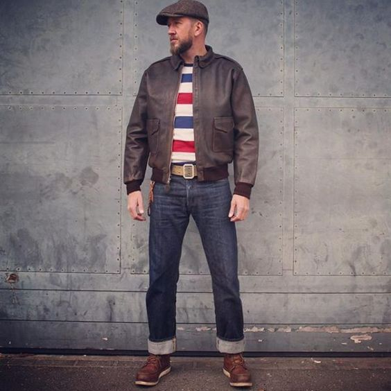pIKE bROTHERS 1938 A2 FLIGHT JACKET RUSSET BROWN | Black & Blue