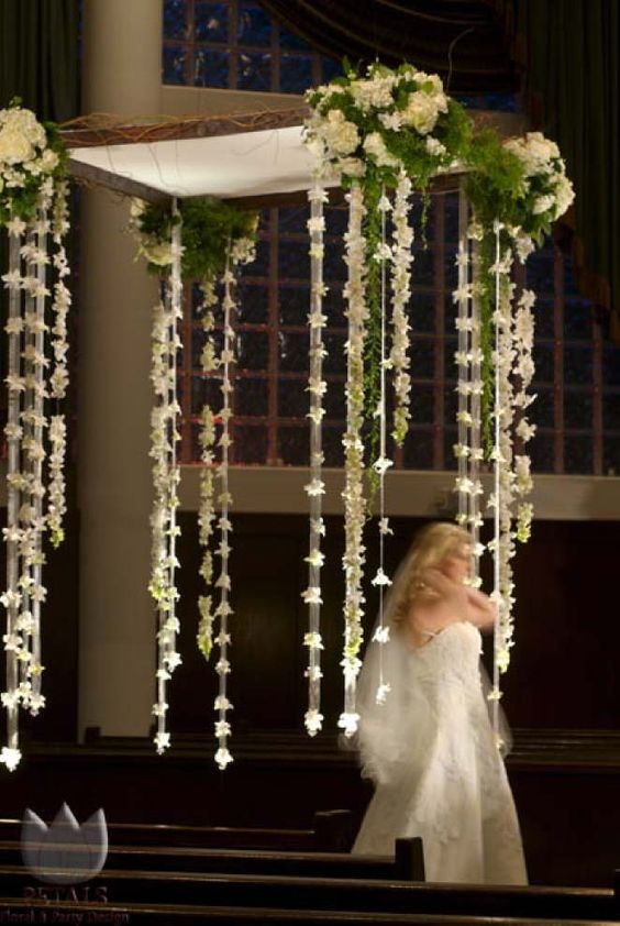 Ceremony Backdrop Wedding And Streamers On Pinterest