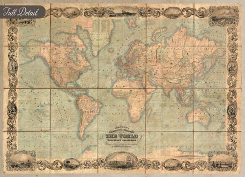 Pinterest u2022 The worldu0027s catalog of ideas - new antique world map images