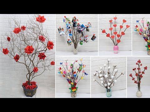 10 Tree Branches Decoration Ideas Home Decorating Ideas Handmade Youtube Arranjos De Flores Artesanato Artes