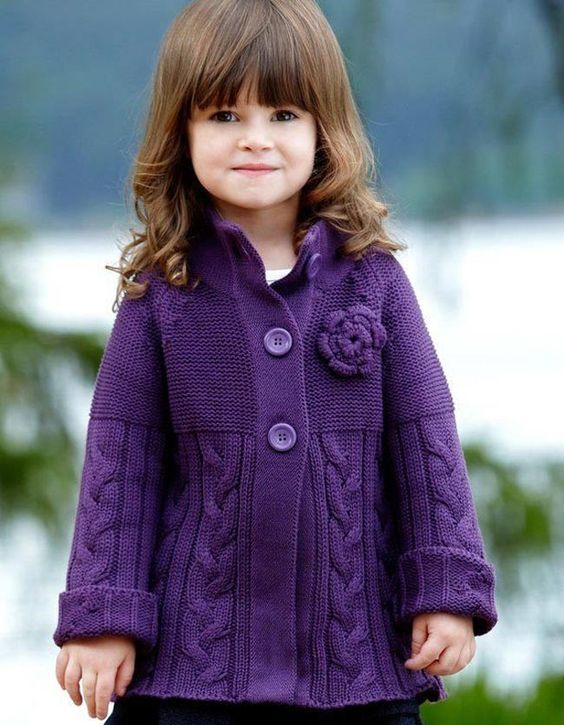 10 abrigos tejidos en crochet para bebés