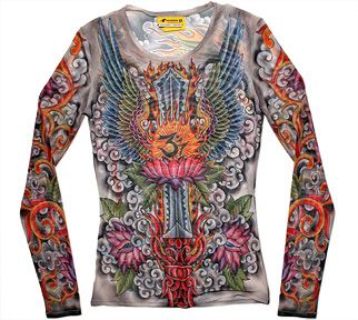 Shirts tattoo artists and sleeve on pinterest for Tattoo shirts long sleeve