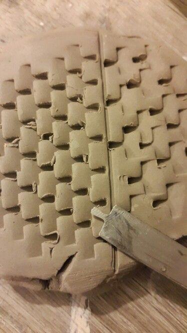 Herramienta para hacer textura en ceramica