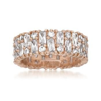 Ross Simons 2.87 ct. t.w. CZ Eternity Band In Rose Vermeil