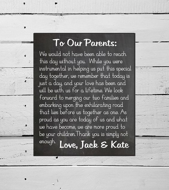 PRINTABLE Thank You Sign DIY Chalkboard Wedding Decor Marriage Bride Groom Parents Family Mother of the Bride Father of the Bride Ceremony on Etsy, $18.00