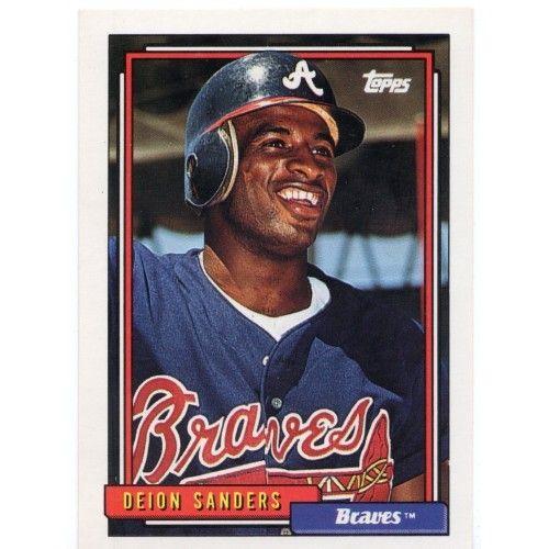 For Sale 1992 Topps Baseball Braves Deion Sanders Card 645 Bb168 Webstore In 2020 Braves Baseball Trading Cards Baseball