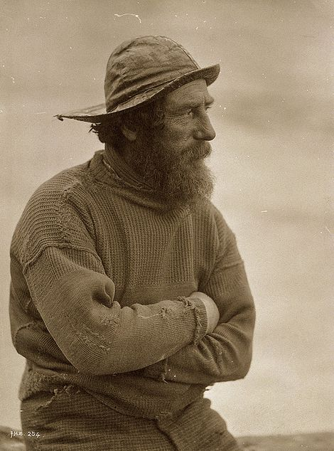 Fisherman with sydvest, c.1850, Frank Meadow Sutcliffe