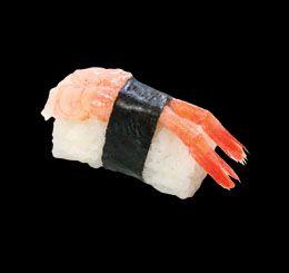 Wasabi (Mom Park) - Házhozszállítás | LeFood | Édesrák nigiri (Kcal.: 113/db) | Rendeld meg most a LeFoodon, házhozszállítással, online, másodpercek alatt: http://lefood.hu/wasabi | EN: Order now online: Sweet shrimp nigiri (Kcal: 113/pcs)