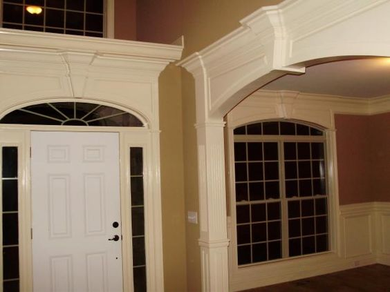 Pictures of entry ways and interiors on pinterest for Architectural trim