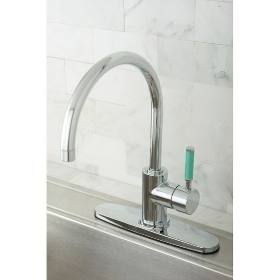 Green Eden Single Lever Handle Kitchen Faucet with Deck Plate
