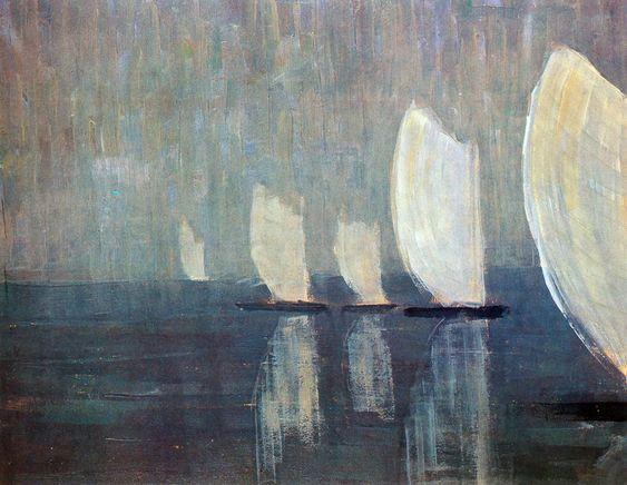 Sailing boats // Mikalojus Ciurlionis